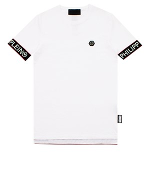 PHILIPP PLEIN - T-SHIRT SS STATEMENT BIANCA