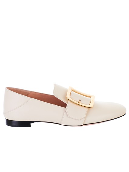 BALLY WHITE JANELLE LOAFERS