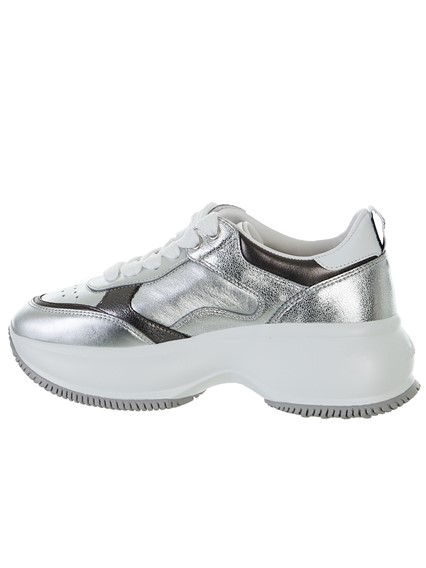 HOGAN SILVER AND WHITEMAXI  SNEAKERS