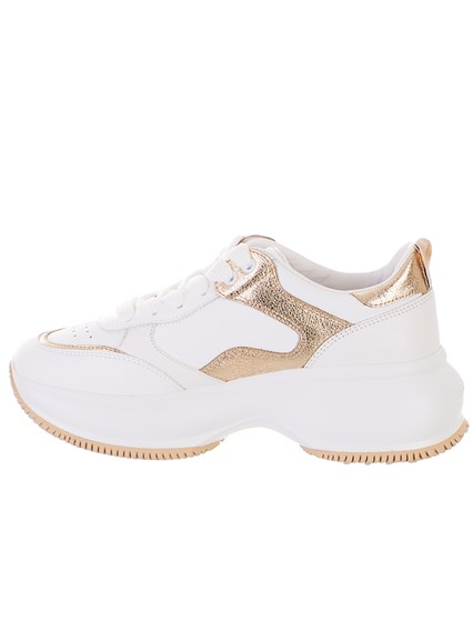 HOGAN SILVER AND GOLD MAXI  SNEAKERS