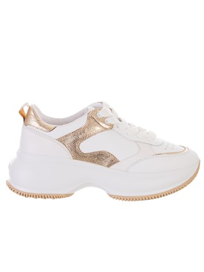 HOGAN - SILVER AND GOLD MAXI  SNEAKERS