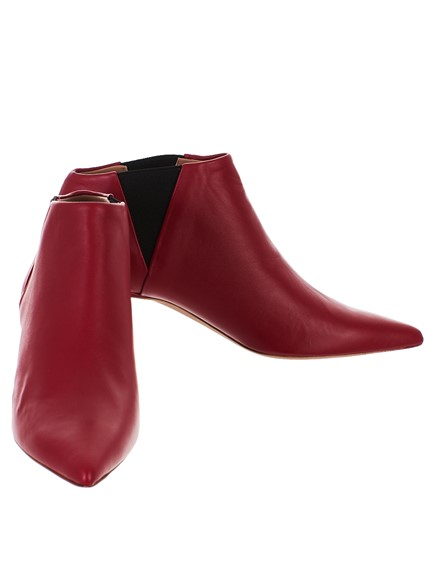 GOLDEN GOOSE DELUXE BRAND RED FAIRY ANKLE BOOTS