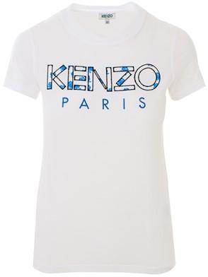 KENZO - WHITE LOGO M/C T-SHIRT