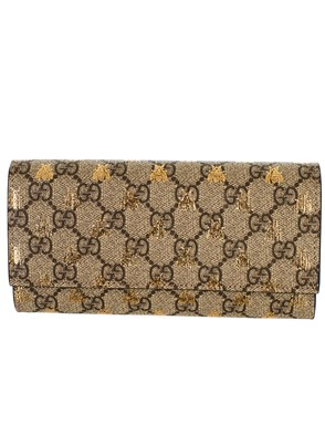 GUCCI - BEIGE GG BEES WALLET