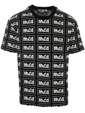 McQ ALEXANDER MCQUEEN - BLACK M/C SHIELD SURFER T-SHIRT