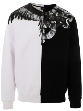MARCELO BURLON COUNTY OF MILAN - FELPA WINGS SNAKES NERA