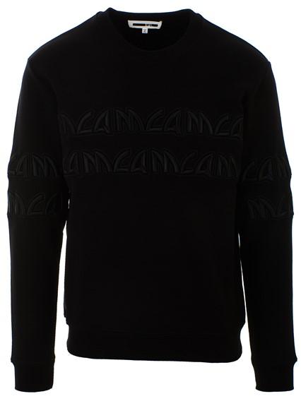 McQ BY ALEXANDER MCQUEEN BLACK G/C METAL SWEATSHIRT