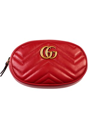 GUCCI - RED GG MARMONT BUM BAG