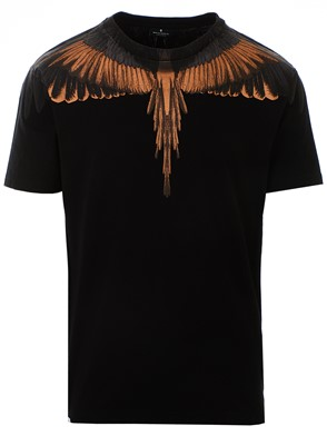 MARCELO BURLON COUNTY OF MILAN - BLACK WINGS T-SHIRT