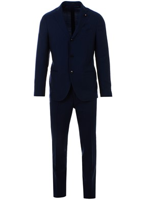 LARDINI - BLUE SINGLE-BREASTED SUIT