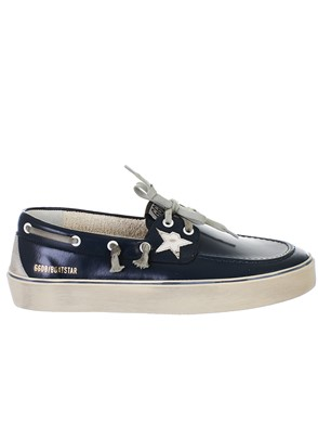 GOLDEN GOOSE DELUXE BRAND - BLUE BOATSTAR SNEAKERS