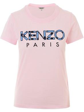 KENZO - T-SHIRT M/C LOGO ROSA