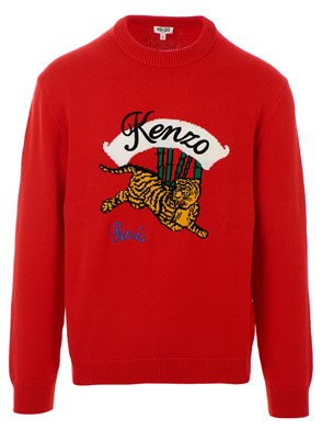 KENZO - RED TIGER SWEATER
