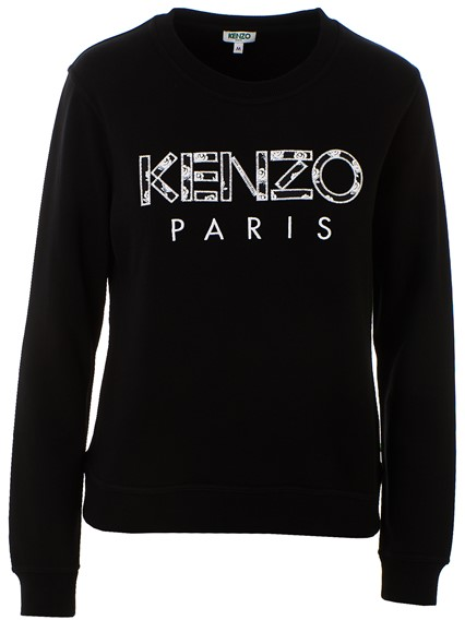 f842ee3c kenzo BLACK LOGO SWEATSHIRT available on lungolivigno.com - 28146