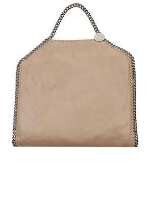 STELLA MC CARTNEY - CREAM 3-CHAIN FALABELLA BAG