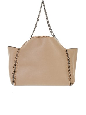 STELLA MC CARTNEY - CREAM REVERSIBLE FALABELLA BAG