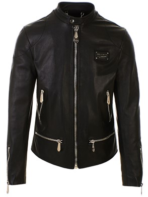 PHILIPP PLEIN - BLACK BIKER JACKET