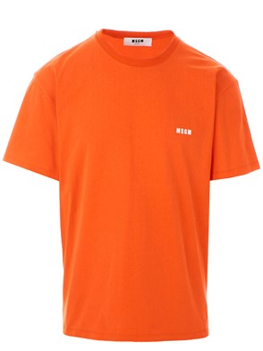 MSGM - ORANGE M/C LOGO T-SHIRT