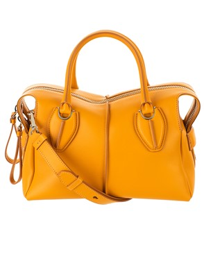 TOD'S - YELLOW BOWLING BAG