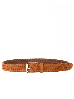 TOD'S - BEIGE BRAIDED BELT
