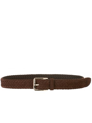 TOD'S - BROWN BRAIDED BELT