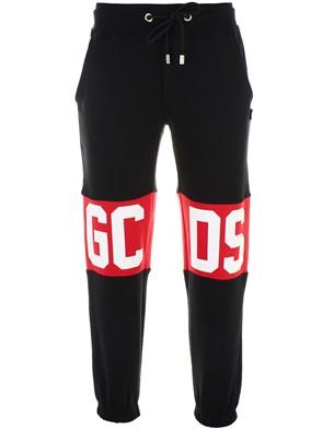 GCDS - BLACK LOGO PANTS