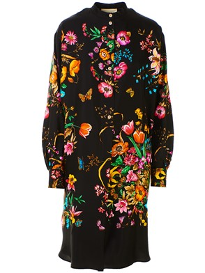 GUCCI - BLACK FLORAL DRESS