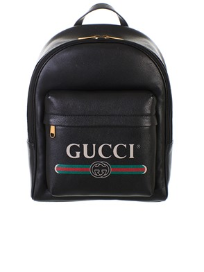 9b58646193f GUCCI - BLACK BACKPACK