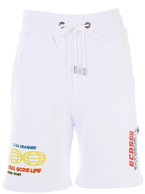 GCDS - WHITE BERMUDA SHORTS