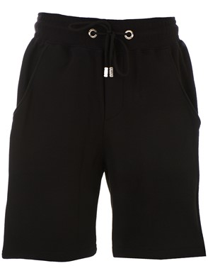 GCDS - BLACK BERMUDA SHORTS