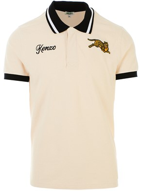 KENZO - POLO M/C JUMPING TIGRE BEIGE