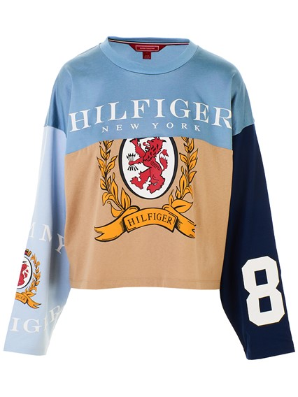 7551dd8ed hilfiger collection MULTICOLOR FOOTBALL T-SHIRT available on ...
