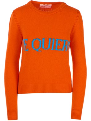 ALBERTA FERRETTI - ORANGE SWEATER