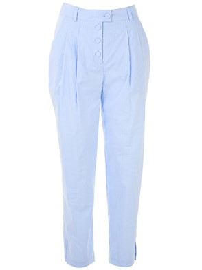 ERMANNO SCERVINO - WHITE AND LIGHT BLUE PANTS