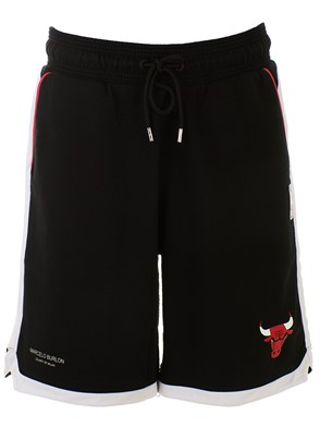 MARCELO BURLON COUNTY OF MILAN - BLACK CHICAGO BULLS SHORTS