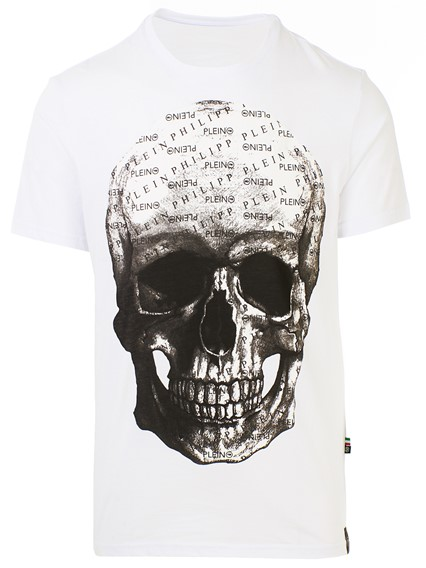 ee969195afd philipp plein WHITE T-SHIRT available on lungolivigno.com - 28420