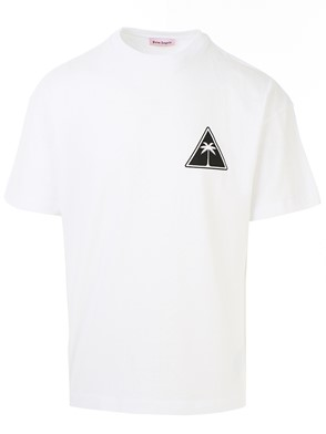 PALM ANGELS - T-SHIRT PALM ICON BIANCA