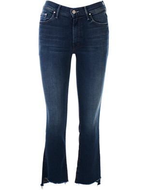 MOTHER - BLUE INSIDER CROP JEANS