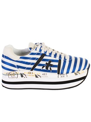 PREMIATA - BLUE AND WHITE BETH SNEAKERS