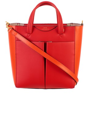 ANYA HINDMARCH - RED MINI TOTE CIRCUS BAG
