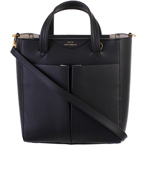 ANYA HINDMARCH - BLACK MINI TOTE CIRCUS BAG