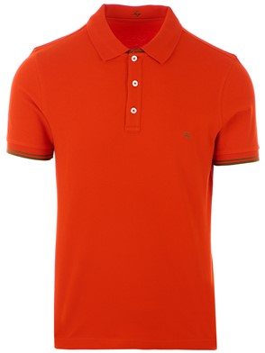 FAY - ORANGE POLO SHIRT
