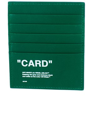 OFF WHITE c/o VIRGIL ABLOH - GREEN CARD HOLDER