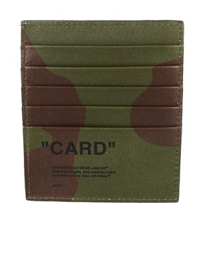 OFF WHITE - ARMY GREEN CARD HOLDER