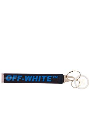 OFF WHITE c/o VIRGIL ABLOH - BLACK AND BLUE KEYRING