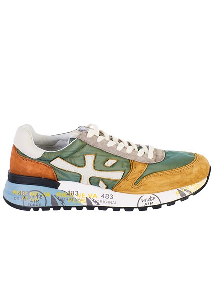 f377313294285b premiata GREEN AND YELLOW MICK SNEAKERS available on lungolivigno ...