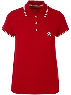 MONCLER - RED POLO SHIRT