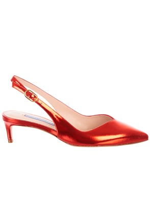 STUART WEITZMAN - RED EDITH PUMPS