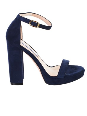 STUART WEITZMAN - BLUE NEARLYNUDE SANDALS