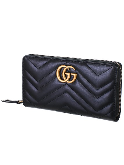 f6d2a9599eb gucci BLACK GG MARMONT WALLET available on lungolivigno.com - 28590